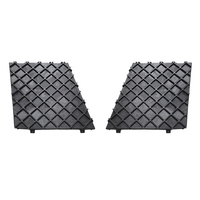 1 Pair Left Right Front Bumper Cover Lower Mesh Grill Trim Compatible BMW E60 E61 Car Styling