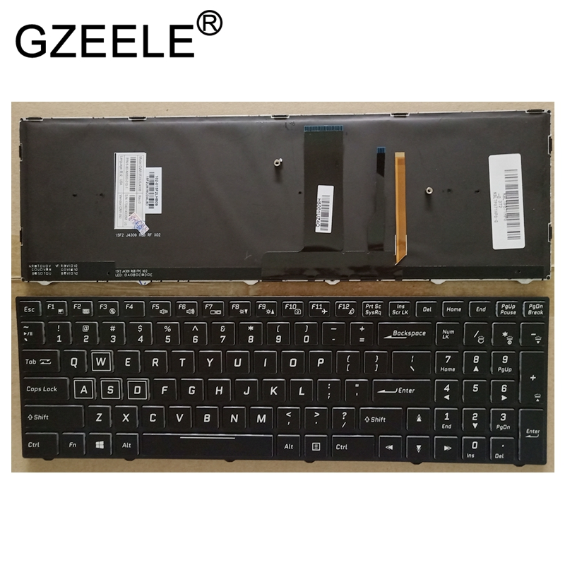 GZEELE US laptop Keyboard For Clevo P650HS-G P651HS-G P650HP6-G Backlit with backlight