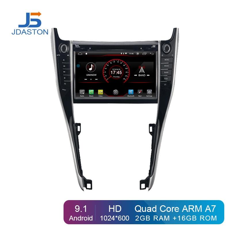 JDASTON 7 pouces Android 9.1 lecteur DVD de voiture pour Toyota Harrier 2013-2017 2 Din autoradio GPS Navigation multimédia stéréo WIFI