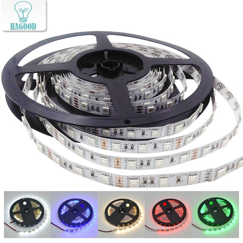 High Brightness DC12V LED Strip 5050SMD 60leds/m 5m/lot Flexible LED Strip Light for Holiday Lighting Decoration