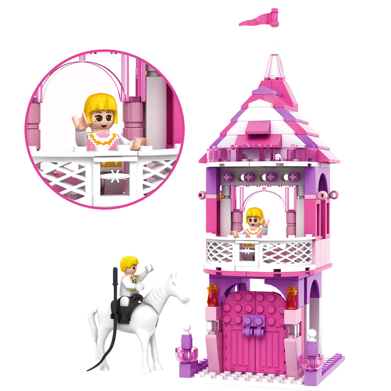 167pcs Castl Fairy Tale Princess Prince Charming Girl Assembled Building Blocks Children Toy Kids Toys for Girls K0236-13269 dear prince charming