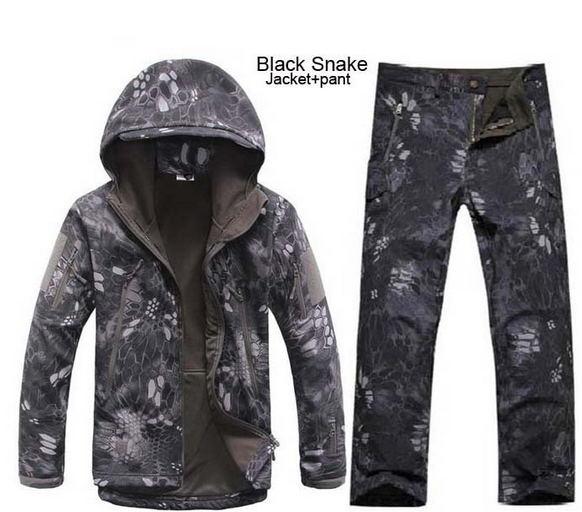 Caça camuflagem Roupas Lurker Tubarão Pele Soft Shell Tad V 4.0 Outdoor Militar Tático Casaco de Lã + Calças Ternos Uniforme