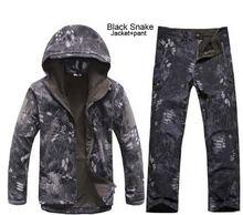 Камуфляж Одежда для охоты Акула кожи мягкой в виде ракушки скрытень Tad V 4,0 Открытый Тактический военная Униформа флисовая куртка + форменн