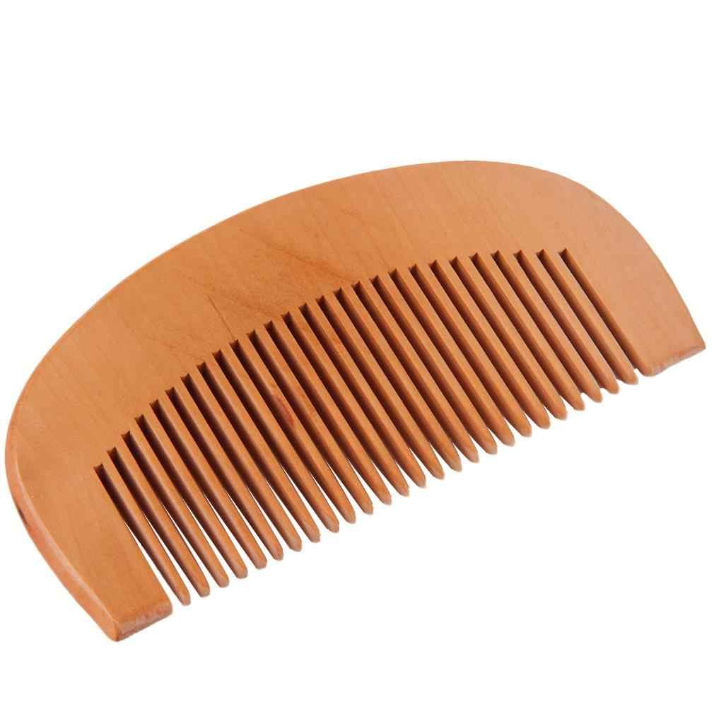 Alami Gigi Lebar Sisir Kayu Peach Kayu Kayu Sikat Rambut Tidak Statis Pijat Sikat Rambut Kesehatan 9 Cm Kayu rambut Sisir Styling Alat