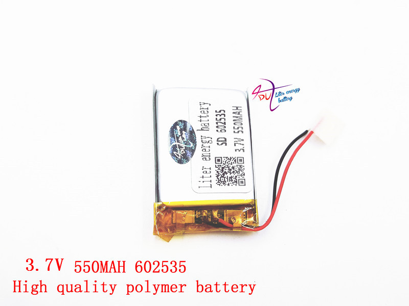 Polymer lithium battery 3.7 V, 602535 062535 550MAH can be customized wholesale CE FCC ROHS MSDS quality certification free shipping polymer lithium battery 651230 3 7v 200mah can be customized wholesale ce fcc rohs msds quality certification
