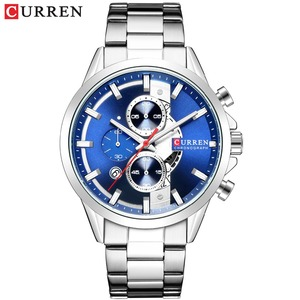 Image 4 - CURREN Fashion Design Watches for Men 2019 Luxury Brand Mens Watch Casual Sport Wristwatch Chronograph Stainless Steel Clock