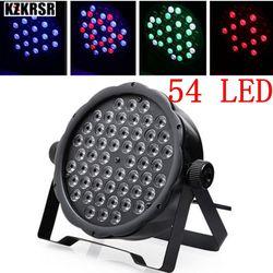 Światła Led par 54x3 W DJ Par RGBW 54*3 w światła sceniczne R12  G18  b18  W6 mycia Disco Party DJ lampa domowa DMX512 kontroler efekt w Oświetlenie sceniczne od Lampy i oświetlenie na