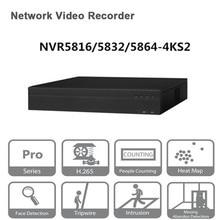 Original egnlish versión Dahua NVR/16/32/64CH grabador de vídeo en red NVR5816 4KS2 NVR5832 4KS2 NVR5864 4KS2 envío gratis de DHL