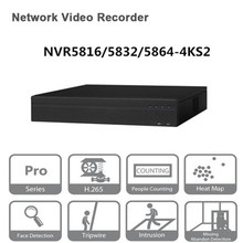 Original egnlish version Dahua NVR 16/32/64CH Network Video Recorder NVR5816 4KS2 NVR5832 4KS2 NVR5864 4KS2 Free DHL shipping