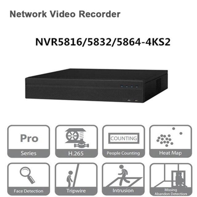 Original versão egnlish dahua nvr 16/32/64ch gravador de vídeo em rede NVR5816 4KS2 NVR5832 4KS2 NVR5864 4KS2 frete grátis dhl