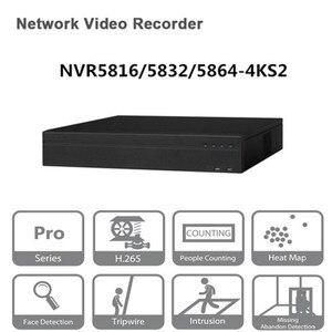 Image 1 - Oryginalny egnlish wersja Dahua NVR 16/32/64CH sieciowy rejestrator wideo NVR5816 4KS2 NVR5832 4KS2 NVR5864 4KS2 darmowe DHL wysyłka