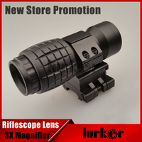 Military Airsoft Tactical 3x Magnifier Riflescope 3X30mm Magnifying Scope Focus Adjusted With Flip Up Mount For