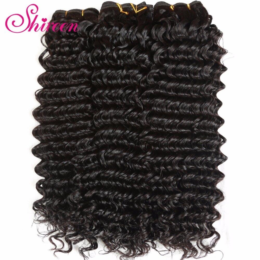 Shireen Hair Malaysian Deep Wave 4 Bundles Lot Maylasian Hair Bundles Human Hair Extensions Remy Hair Weaving Natural Black