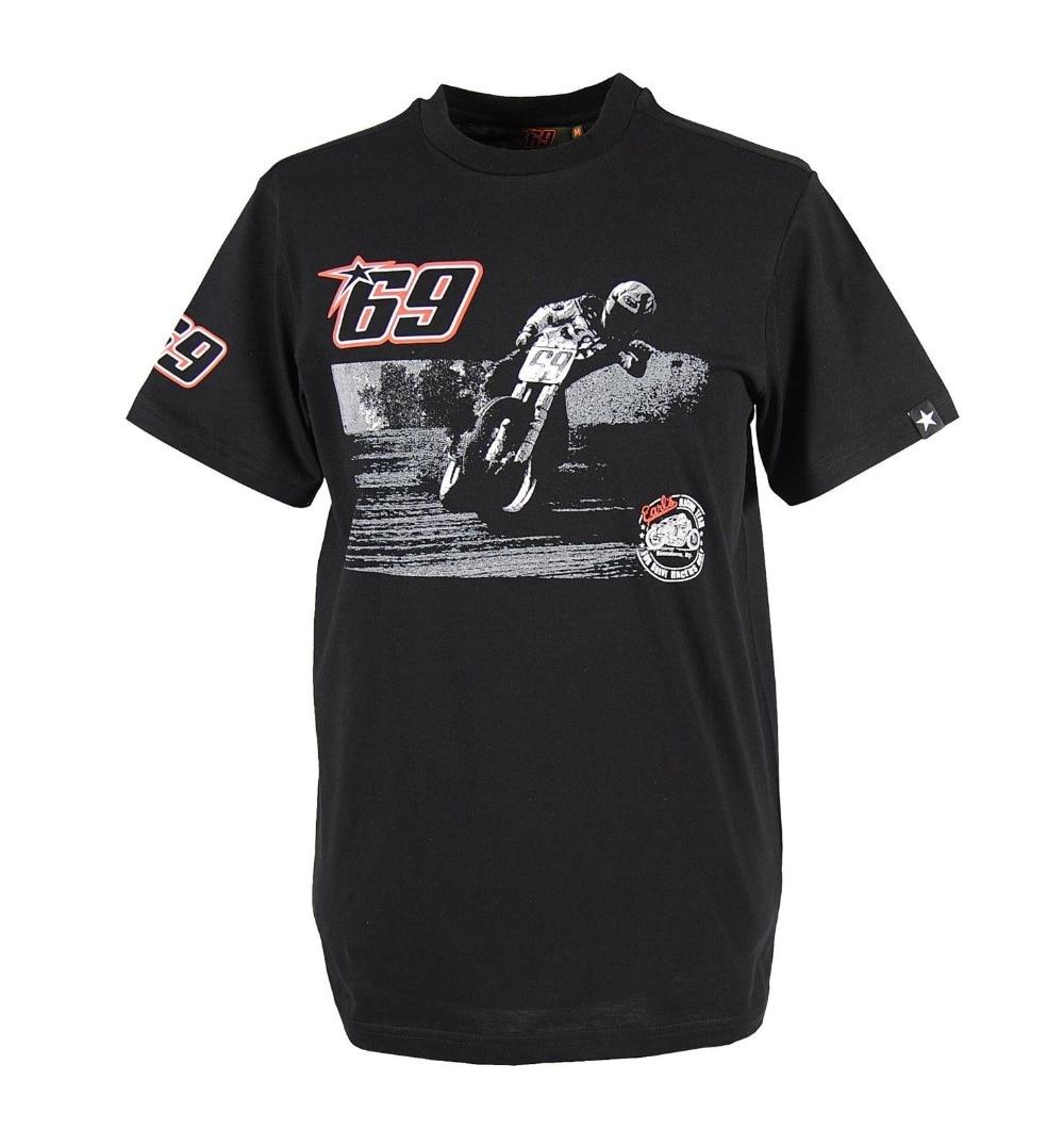 Prix pour Livraison gratuite 2016 Nicky Hayden 69 Moto GP Vintage Vélo T-Shirt Noir Moto Moto MOTO racing jersey