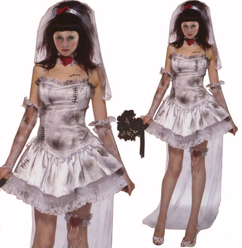 Extremamente Filmes americanos assustador fantasma noiva boneca Halloween  WT18