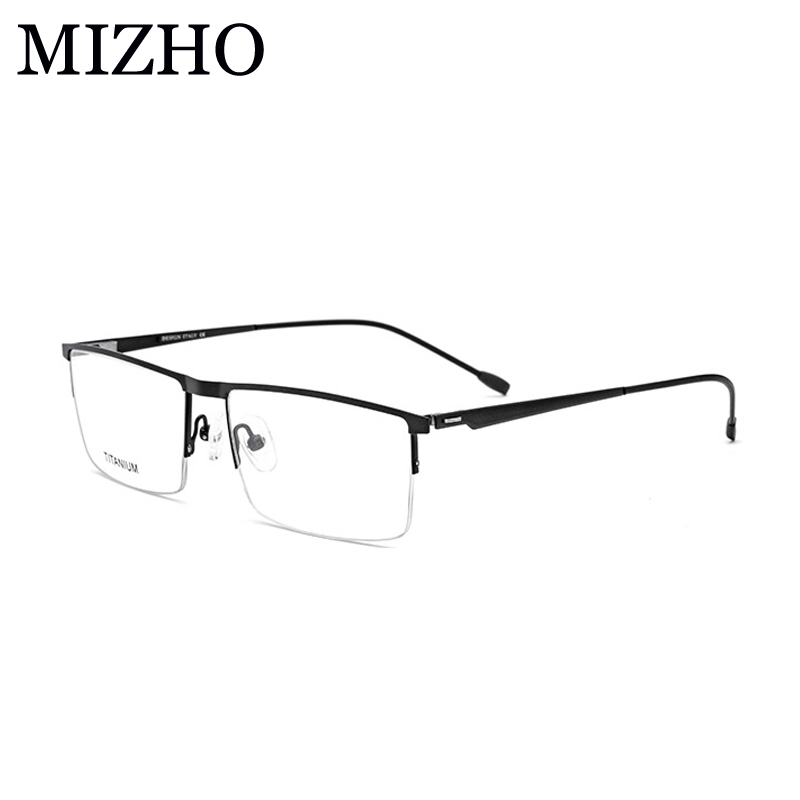 MIZHO 15g Super Light Optical Glasses Frame Men Business Boutique Rectangle Eye glasses Titanium Alloy Strong Durable 2019