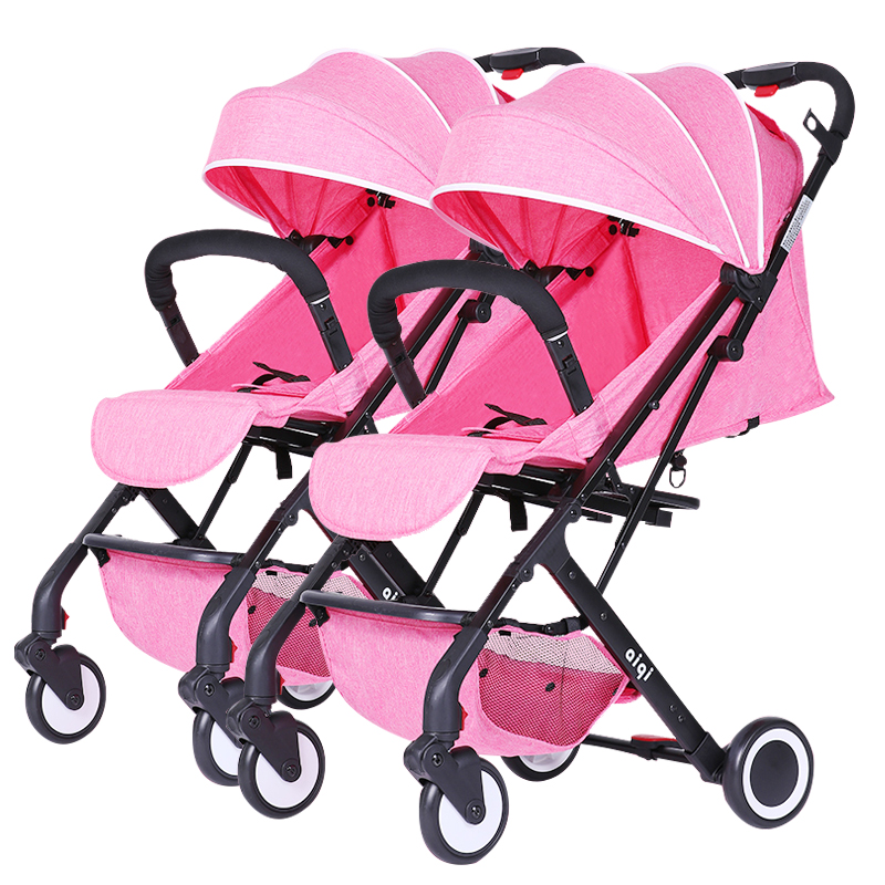 Super light Twin Baby Stroller High Landscape Light Folding trolley baby can Sitting And Lying Portable Carts can be on plane подвес из серебра valtera 45271
