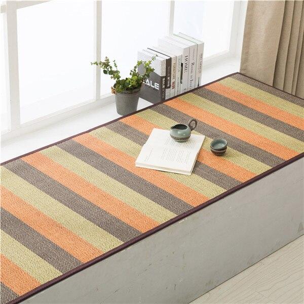 Tatami japonais grand tapis bambou tapis de sol Design Oriental tapis de Yoga matelas maison fenêtre baie intérieur chambre tapis tapis