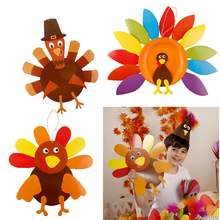 kindergarten lots arts crafts diy toys Thanksgiving turkey ornaments crafts kids educational for children's toys girl/boy gift