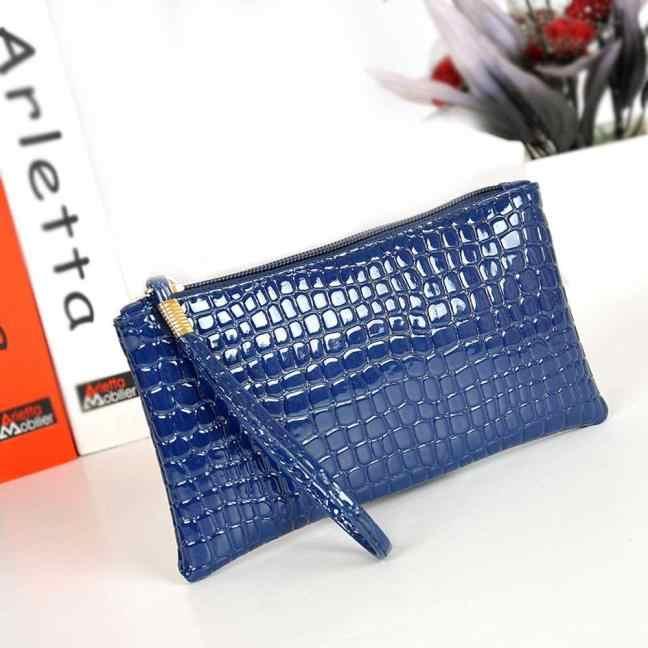 Carteira de couro de crocodilo bolsa de embreagem bolsa de moedas cartera mujer * 0.6