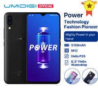 UMIDIGI di Potere Android 9.0 5150mAh Grande Batteria 18W 6.3 'FHD + Waterdrop Dello Schermo 4GB + 64GB Helio P35 Globale Versione Smartphone 16MP