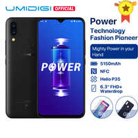 "UMIDIGI Power Android 9.0 5150mAh Große Batterie 18W 6,3 ""FHD + Waterdrop Bildschirm 4GB + 64GB helio P35 Globale Version Smartphone 16MP"