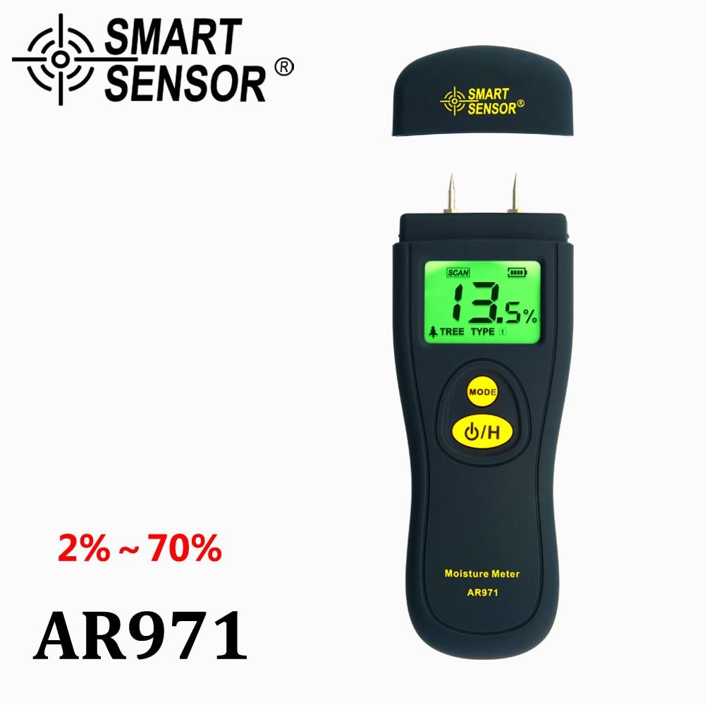 SMARTSensor Digital Wood Moisture Meter timber moisture tester Hygrometer Moisture Analyzer damp detector tree humity meter  цены