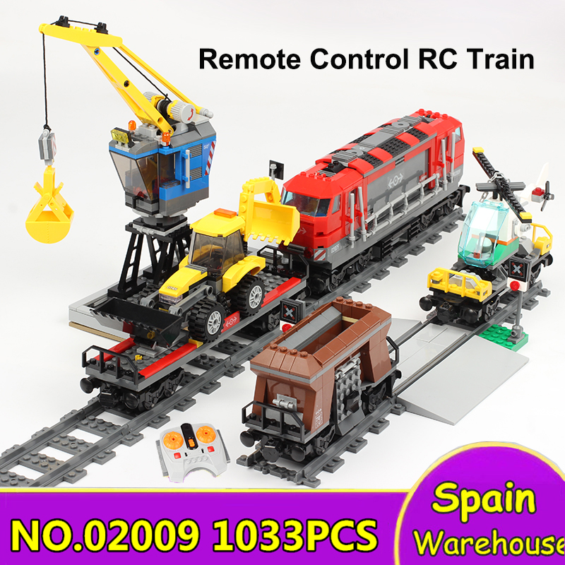 02009 RC Train Technic City Train 60098 With Motor Power Remote Control Building Blocks Toys For