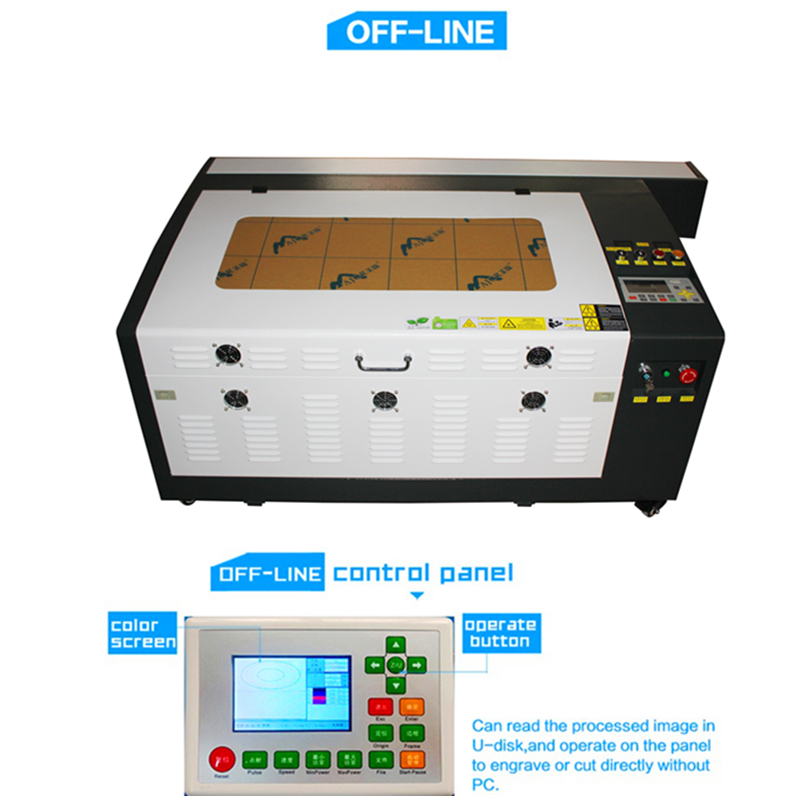 Free delive co2 laser engraving Ruida 100w4060 machine 220v /110v cutter diy CNC
