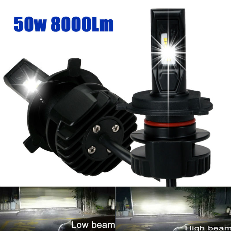 H1 H4 H7 H8 H9 H11 9005 9006 HB3 HB4 9012 HIR2 Car Led Headlight Bulbs to Replace Automobile Headlamp Fog Conversion Kit