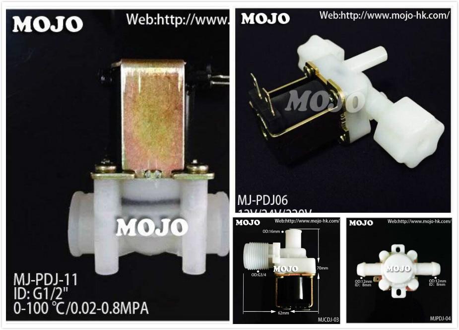 """Gratis Verzending! Mj-cdj06 G1/2 """"-15mm Verticale Size 12 V L Type Nc Inlaat Elektromagnetische Valve Normaal Gesloten Inlaatklep"""