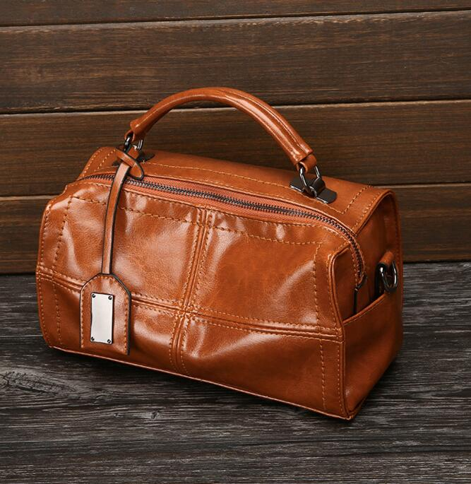 Luxury Women Handbags Oil Wax Soft Leather Large Capacity Tote Bag Vintage Pu Leather Shoulder Messenger bags Ladies Hand Bags