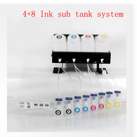 continuous ink system use for eco solvent/water based ink 4pc 1.5L sub tank 8pc 220ml cartridge bulk ink system|solvent ink|solvent|system -