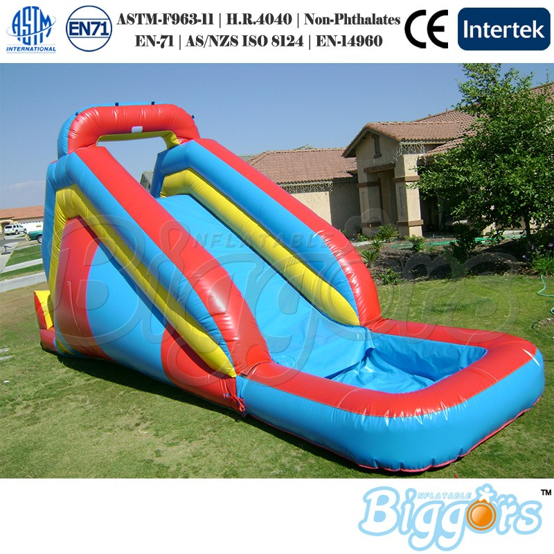 PVC Inflatable Bouncy Slide with Water Pool Inflatable Slide With Blower 2017 outdoor playhouse water slide inflatable slide trapaulin pvc slide sandal toy market guangzhou china