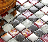 Smalto di colore mosaico di vetro di cristallo HMGM1122 backsplash della cucina della parete adesivo per piastrelle piastrelle pavimento del bagno di trasporto libero
