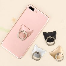 Cat Finger Ring Holder Mini Cute Plastic PC Phone Holder for iphone Sumsung 360 Rotation Finger Ring Holder(China)