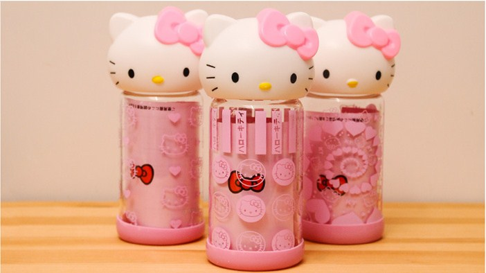 <font><b>Cute</b></font> <font><b>Kitty</b></font> Portable Water Bottle 300ml Pink Glass Cat Creative Outdoor/Camping Shatter proof Space <font><b>Cup</b></font> Leak-proof Water Kettle