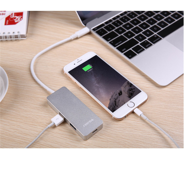 Mecall tecnología USB 3.0 tipo C USB-C múltiple 3 Port Hub adaptador el 12 pulgadas para Macbook