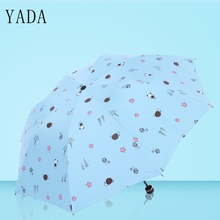 YADA Cartoon Bear Snail Umbrella Design Windproof Folding Rain Sun Umbrellas UV Rainproof Protection Parasol YD144