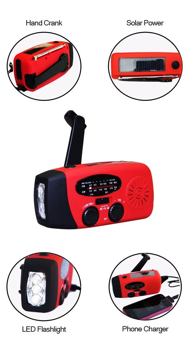 SOLAR HAND CRANK RADIO16