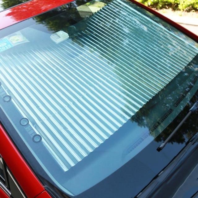Retractable Car Windshield Sunshade Sun Insulation Curtain UV Protection Sun Shade Cover Adjustable Insulation Shade 4