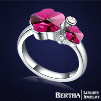 Cute Ring With Swarovski Elements Crystal For Women Wedding Rings Bague Bijoux His And Hers Promise