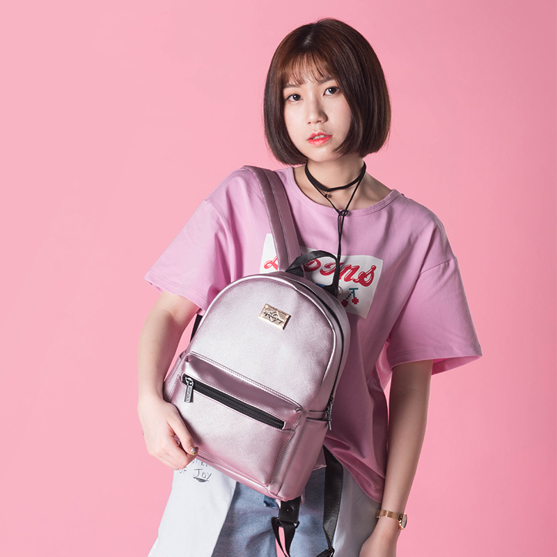 Epiphqny Famous Brand Fashion Women Backpack PU Leather Backbag Cross Printing Travel Bag Girls School Packbag Small