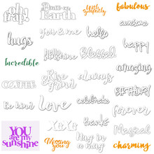 Happy Forever Blessed Words Metal Cutting Dies Set for Making Card Scrapbooking DIY Paper Album Decoration Craft New 2019