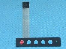10 шт./лот 1×5 Ключ Матрица Мембранный Переключатель Панель Управления Клавиатура Тонкий с 1 led/Авто Меню левый Правый Мощность