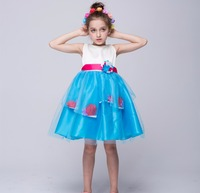 Multicolor 2017 Hot Sell New Girls Children Clothes Cartoon Party Dresses Girls Clothes Wedding Dress Girl Kid Clothing