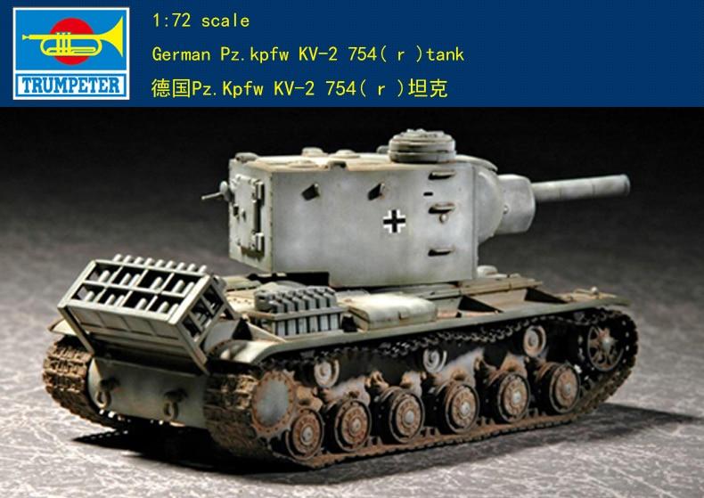 Trumpeter 1/72 07266 German Pz.kpfw KV-2 754( R )tank