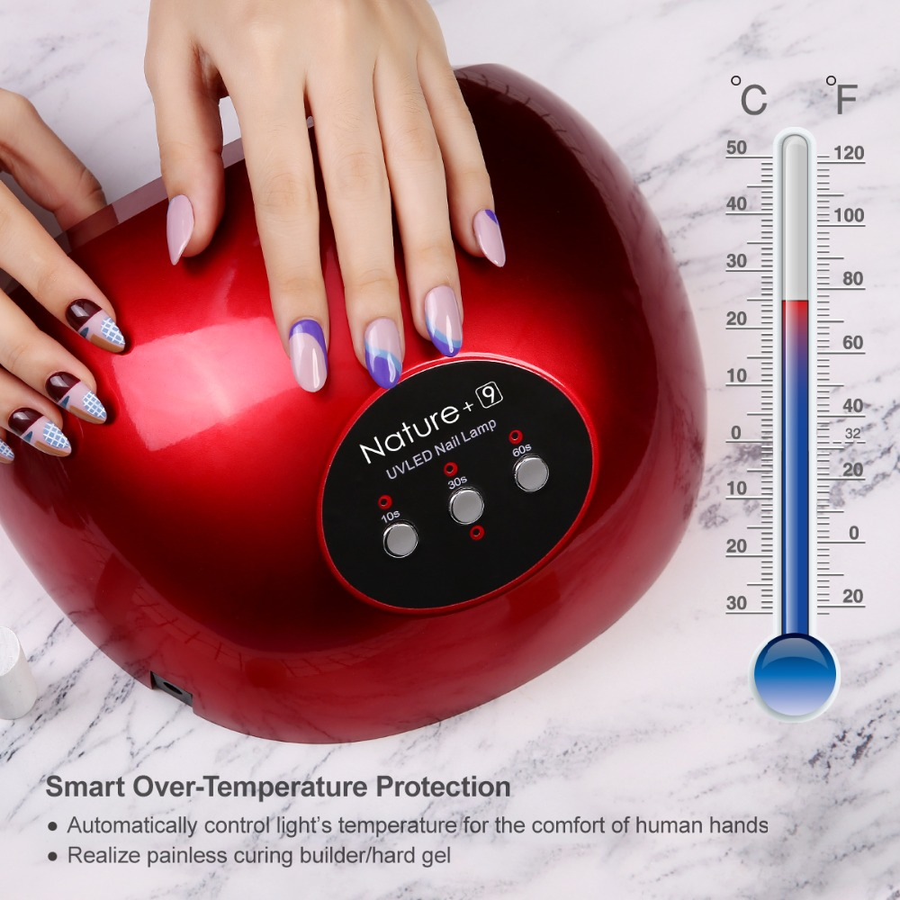 Modelones 48W UV Lamp LED Nail Lamp Nail Dryer For All Gels Polish With Infrared Sensing 45/60s Timer Smart touch buttonModelones 48W UV Lamp LED Nail Lamp Nail Dryer For All Gels Polish With Infrared Sensing 45/60s Timer Smart touch button