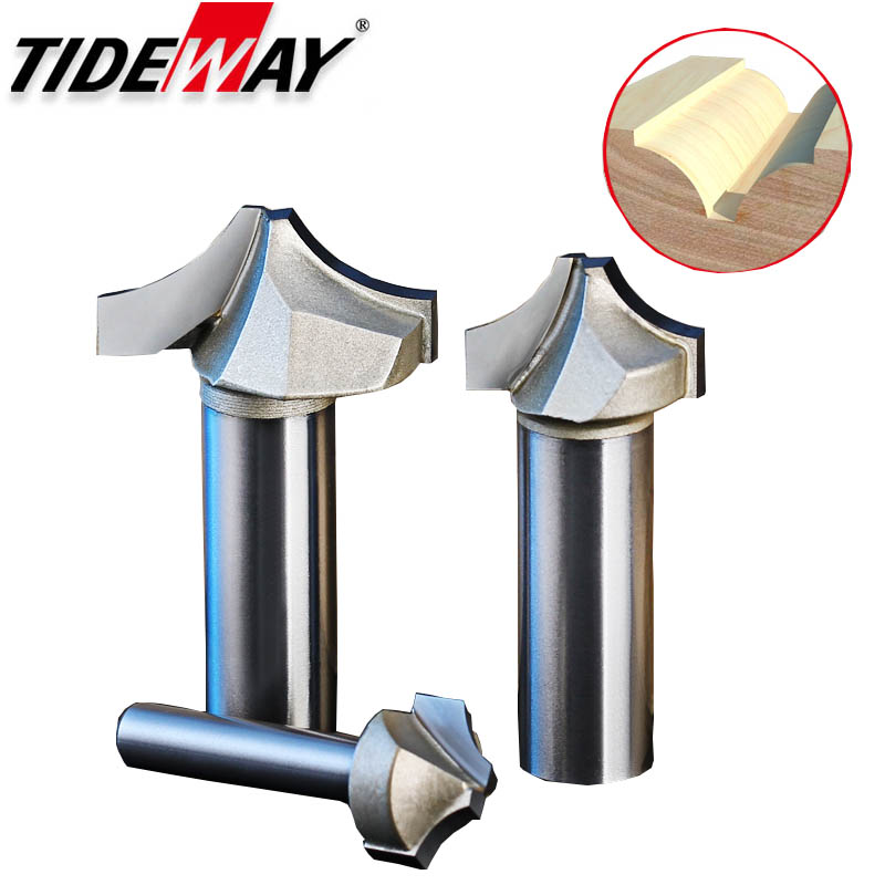 Tideway Tungsten Carbide Arc Router Bits R Angle Professional Grade Woodworking Slotting CNC Tool Milling Cutter For Wood