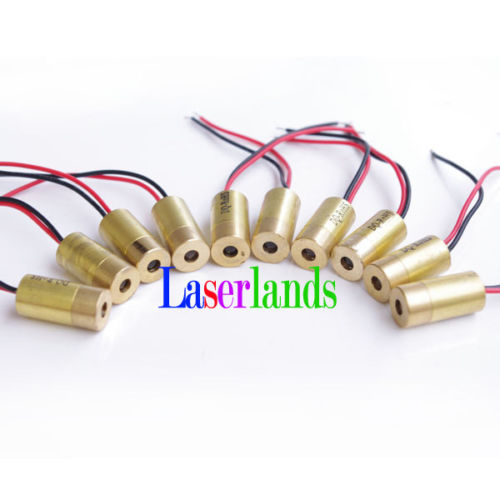 10pcs 10*20mm 5mW Red 650nm 660nm Laser Dot Module Diode LD Brass Body 3VDC